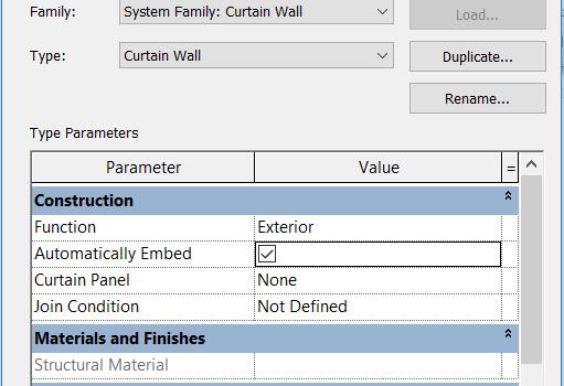 EMBED CURTAIN WALL INTO BASIC WALL