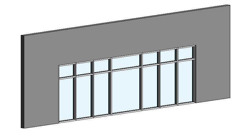 Embed Curtain Wall into Basic Wall